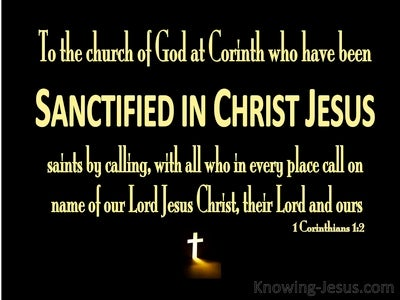 1 Corinthians 1:2 Sanctified In Christ Jesus (yellow)