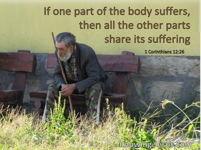 1 Corinthians 12:26 If One Part Of The Body Suffers The Other Parts Share The Suffering (windows)12:10