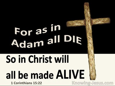 1 Corinthians 15:22 In Adam All Die In Christ All Made Alive (black)