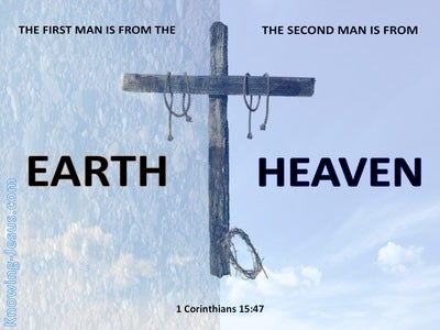 1 Corinthians 15:47 The First Man And Second Man (blue)