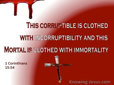 1 Corinthians 15:54 Death Is Swallowed Up In Victory (white)
