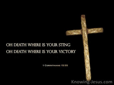 1 Corinthians 15:55 Death Where Is Your Victory (black)