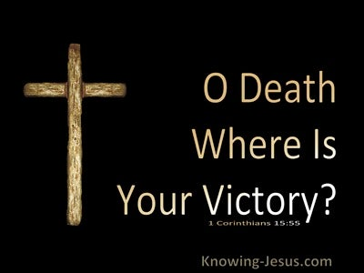 1 Corinthians 15:55 Death Where Is Your Victory (brown)