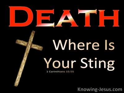 1 Corinthians 15:55 Death Where Is Your Victory (red)