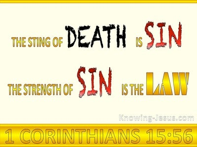 1 Corinthians 15:56 The Sting of Death is Sin (gold)