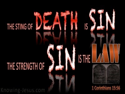 1 Corinthians 15:56 The Sting Of Death Is Sin (red)