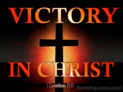 1 Corinthians 15:57 Victory Through Christ (orange)