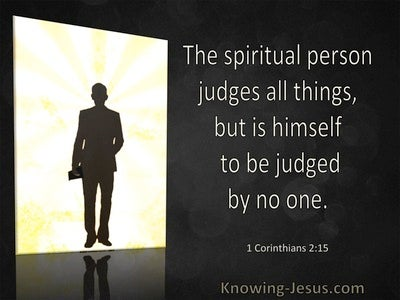 1 Corinthians 2:15 The Spiritual Person Judges All Things (windows)03:17