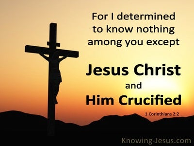 1 Corinthians 2:2 Jesus Christ And Him Crucified (black)