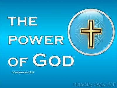 1 Corinthians 2:5 Faith In The Powe Of God (white)