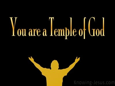1 Corinthians 3:16 Temple Of The Holy Spirit (gold)