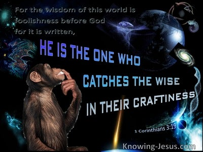1 Corinthians 3:19 Worldly Wisdom Is Foolishness To God (brown)