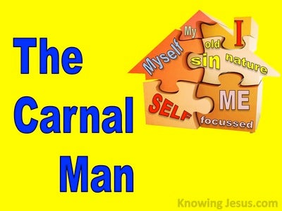 The Carnal Man (devotional) (yellow) - 1 Corinthians 3:3