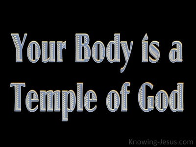 1 Corinthians 6:19 Your Body Is A Temple Of The Holy Spirit (black)