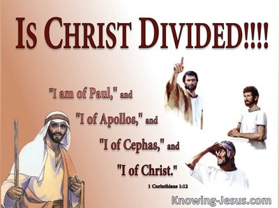 1 Corinthians 1:12 Each Is Saying I Am Of Paul, Appolos, Cephas And Christ