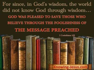 1 Corinthians 1:21 The World's Wisdom And God's Wisdom (black)