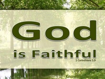 1 Corinthians 1:9 God Is Faithful (green)