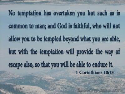 1 Corinthians 10:13 God Is Faithful (gray)