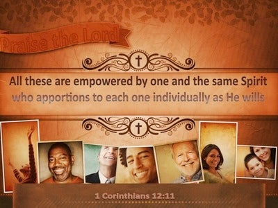 1 Corinthians 12:11 We Are All Empowered By The Same Spirit (yellow)