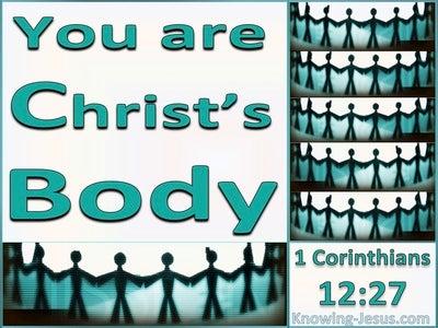 1 Corinthians 12:27 You Are Christ's Body (aqua)