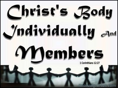 1 Corinthians 12:27 You Are Christ's Body (black)
