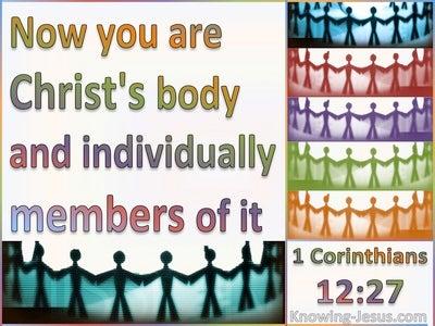 1 Corinthians 12:27 You Are Christ's Body (white)