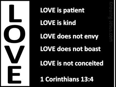 1 Corinthians 13:4 Love is Patient (black)
