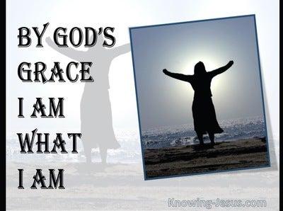 1 Corinthians 15:10 By God's Grace I Am What I Am (navy)