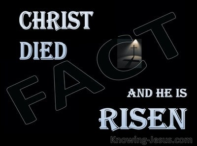 1 Corinthians 15:3 to 4 Christ Died and is Risen (blue)