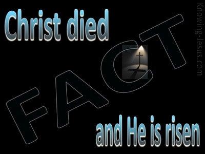 1 Corinthians 15:3,4 Christ Died And Is Risen (aqua)