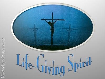 1 Corinthians 15:45 Life Giving Spirit (blue)