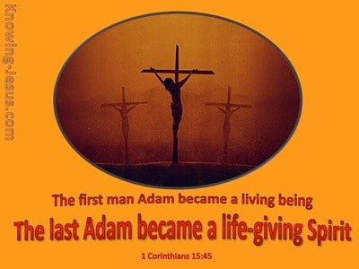 1 Corinthians 15:45 Life Giving Spirit (orange)