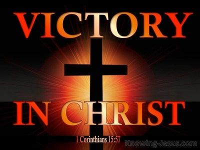 1 Corinthians 15:57 Victory Through Christ (orange)