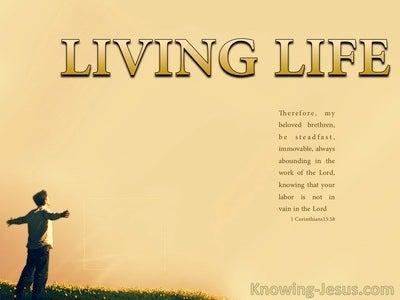 1 Corinthians 15:58 Living Life (devotional)04:29 (beige)