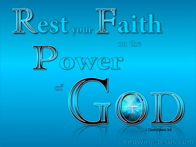 1 Corinthians 2:5 Faith In The Powe Of God (aqua)