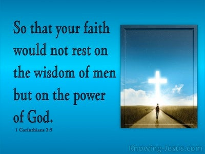 1 Corinthians 2:5 Faith In The Powe Of God (blue)
