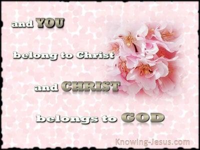 1 Corinthians 3:23 You Belong To Christ (pink)
