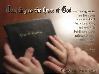 1 Corinthians 3:10 Each Man Must Be Careful How He Builds (windows)12:26