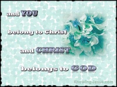 1 Corinthians 3:23 You Belong To Christ (aqua)