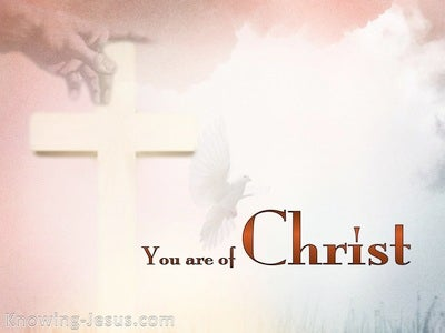 1 Corinthians 3:23 You Are Of Christ (white)