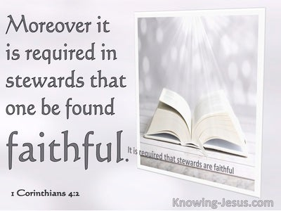1 Corinthians 4:2 It Is Required In Stewards That One Is Faithful (pink)