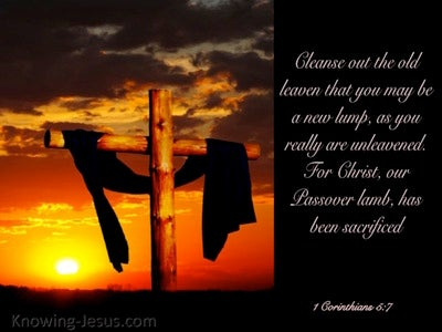 1 Corinthians 5:7 Christ Our Passover (black)