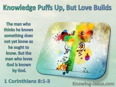 1 Corinthians 8:1:3 Knowledge Puffs Up But Love Builds (windows)10:30
