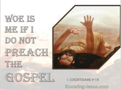 1 Corinthians 9:16 Woe Is Me If I Do Not Preach The Gospel (pink)