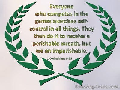 1 Corinthians 9:25 They Do It To Receive A Perishable Wreath. We An Imperishable (green)