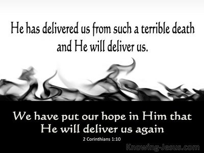 2 Corinthians 1:10 He Has Delivered Us (black)