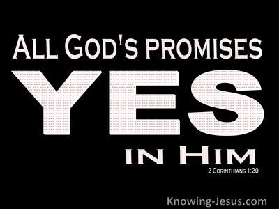 2 Corinthians 1:20 Yes In Him And Amen (black)