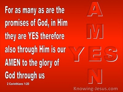 2 Corinthians 1:20 Yes In Him And Amen (red)