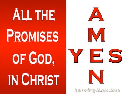 2 Corinthians 1:20 Yes In Him And Amen (white)
