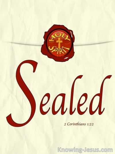 2 Corinthians 1:22 Signed and Sealed (devotional)12:13 (beige)